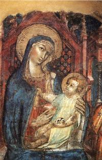 Facciata della Chiesa - Madonna in trono - scuola senese, sec. XV